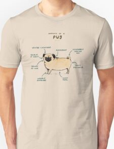 Anatomy of a Pug T-Shirt