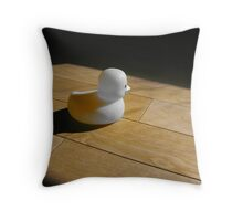 Alone - Lonely Duck Throw Pillow