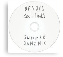 Parks and Recreation - Benji's Cool Times Summer Jamz Mix Canvas Print