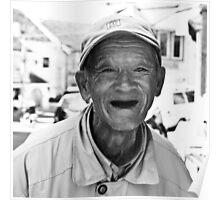 Vietnam - Eldery man smiling Poster