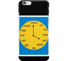 Funny French Clock iPhone Case/Skin