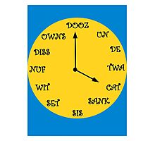 Funny French Clock Photographic Print