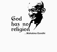"Gandhi ""God Has No Religion"" T-Shirt Womens Fitted T-Shirt"