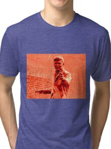 Billy Fury Statue. Tri-blend T-Shirt