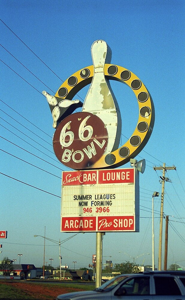Route 66 Bowl by Frank Romeo