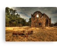 Petrified Wood Ghost Station Canvas Print