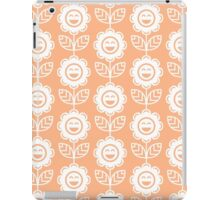 Peach Fun Smiling Cartoon Flowers iPad Case/Skin