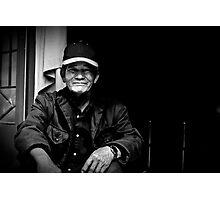 Vietnam - Portrait of man in back streets of Dalat Photographic Print