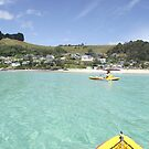 Pam and I at Boat Harbour - kayaking delight! by gaylene