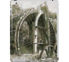 Industrial Revolution - Burden Iron Works Water Wheel, Hudson River, Troy, New York, USA iPad Case/Skin