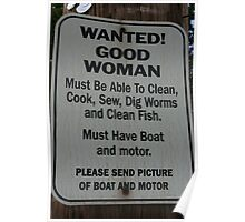 Wanted Good woman Poster