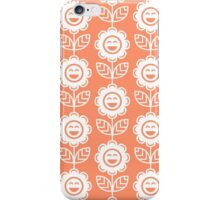 Coral Fun Smiling Cartoon Flowers iPhone Case/Skin