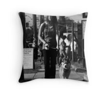 Dogs don't stop for Christmas! Throw Pillow