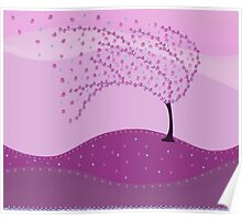 Pink Cute tree Poster