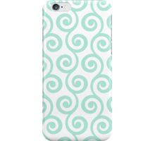 Mint Geometric Swirl Pattern iPhone Case/Skin