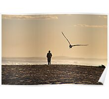 Quiet Contemplation - Redhead Beach Sunset  Poster