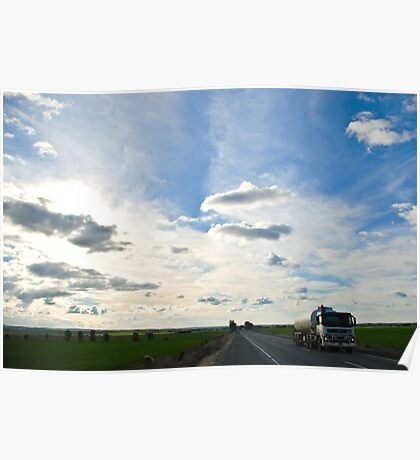 Striking Sky - Main North road Adelaide Poster