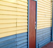 E-Shed detail in muted primary colours by Ian Ker