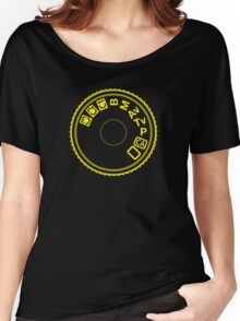 Camera Mode Dial Women's Relaxed Fit T-Shirt