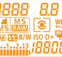 Canon Camera LCD panel Sticker