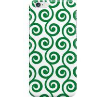 Green Geometric Swirl Pattern iPhone Case/Skin