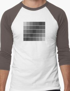 greyscale blocks Men's Baseball ¾ T-Shirt