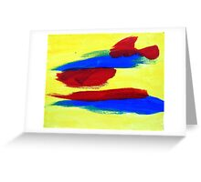 Abstract in Primary Greeting Card