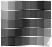 greyscale blocks Poster