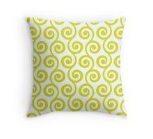 Chartreuse Geometric Swirl Pattern Throw Pillow