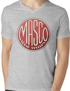 Vintage Masco Logo Mens V-Neck T-Shirt