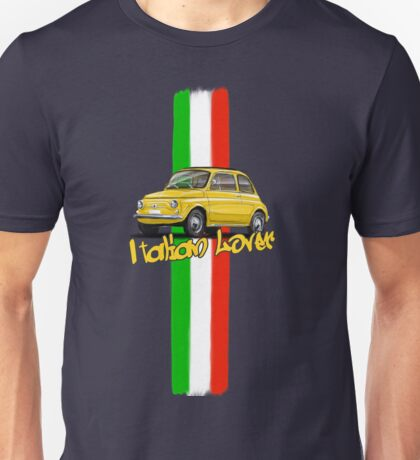 Fiat 500 Italian Lover Unisex T-Shirt