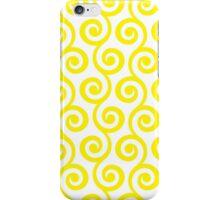 Yellow Geometric Swirl Pattern iPhone Case/Skin