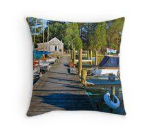 The Boat House Marina, Goolwa, SA Throw Pillow