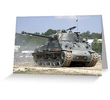 WW2 Sherman Tank Greeting Card