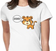 RAWR! Tiger Womens Fitted T-Shirt