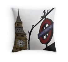 12:45pm - London Time Throw Pillow