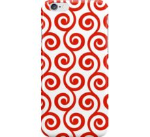 Red Geometric Swirl Pattern iPhone Case/Skin