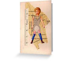 Anatomy of a doll 9 Greeting Card
