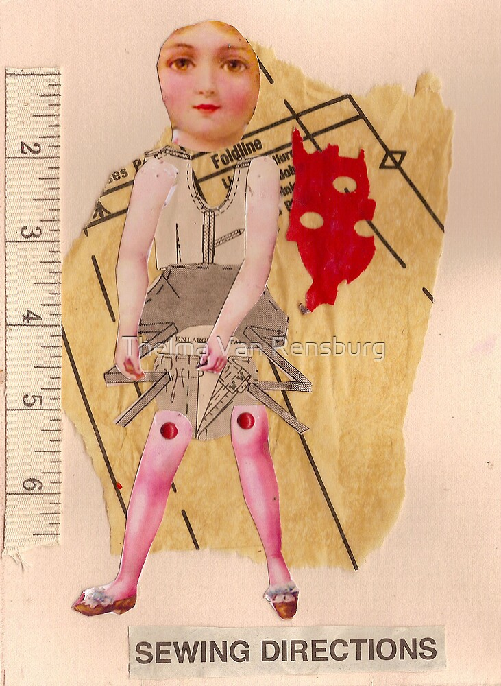 Anatomy of a doll 10 by Thelma Van Rensburg