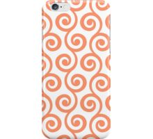Coral Geometric Swirl Pattern iPhone Case/Skin