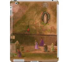The Grotto of our Lady of Lourdes. 1800s. iPad Case/Skin