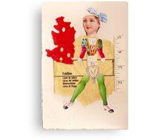 Anatomy of a doll 12 Canvas Print
