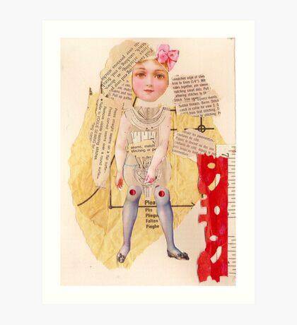 Anatomy of a doll 13 Art Print