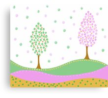 Cute tree Canvas Print