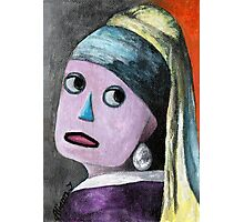 Robot with a Pearl Earring Photographic Print