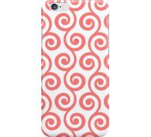 Pink Geometric Swirl Pattern iPhone Case/Skin