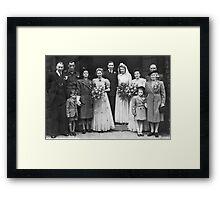 Dorothy And George Wedding Framed Print