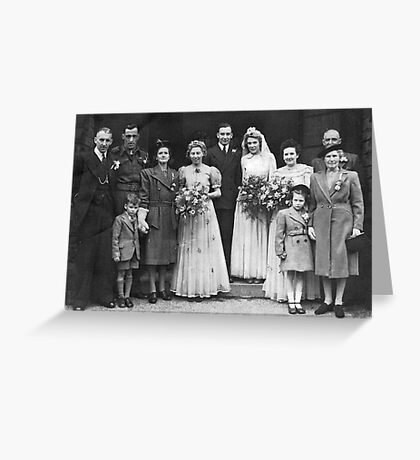 Dorothy And George Wedding Greeting Card