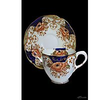 ❦ ❧ CHINA CUP AND SAUCER ❦ ❧ Photographic Print