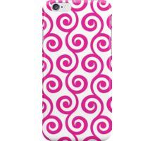 HotPink Geometric Swirl Pattern iPhone Case/Skin